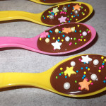 Sprinkled Chocolate Spoons