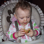 Maya with Easter goodies