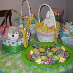 Easter baskets and treats